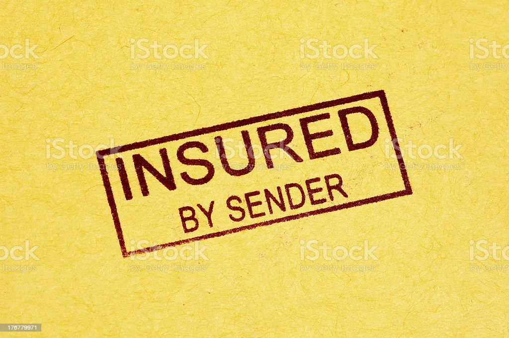 Insured Stamp royalty-free stock photo