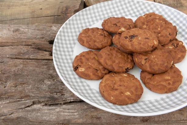 integral cookies - fette biscottate foto e immagini stock