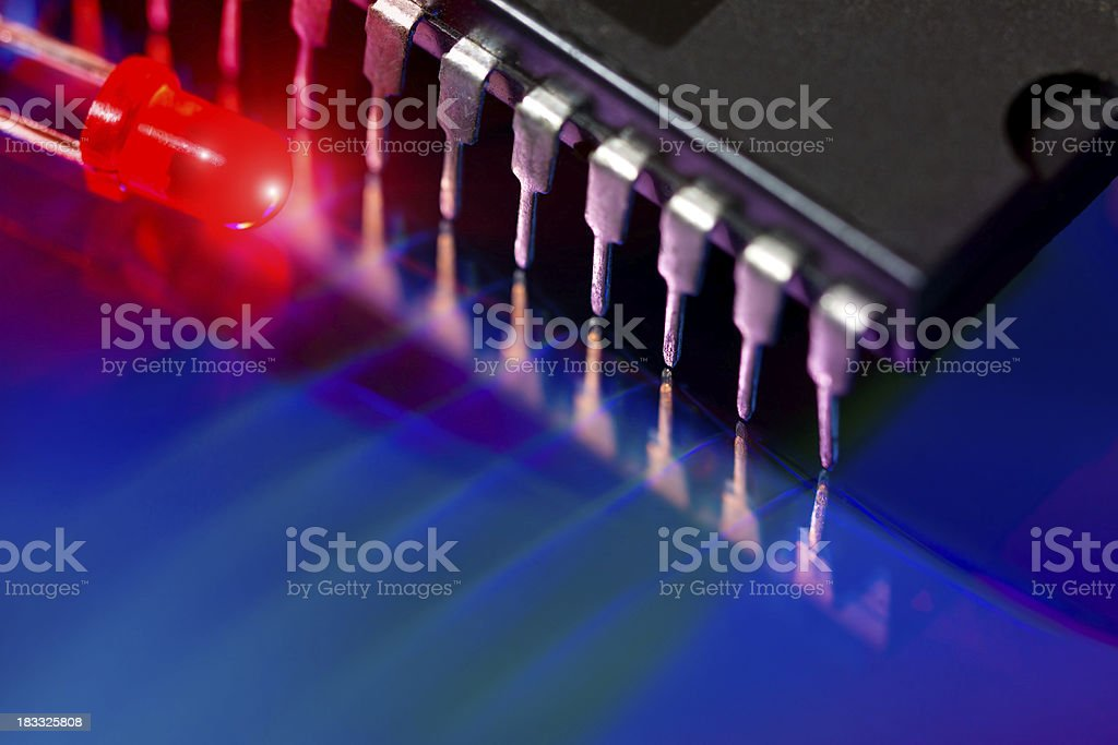 Integrated circuit and LED royalty-free stock photo