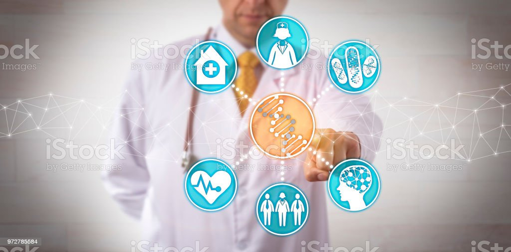 Integrating Genomic Data Into Clinical Workflow stock photo