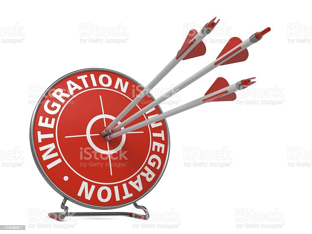 Integration Concept - Hit Target. royalty-free stock photo