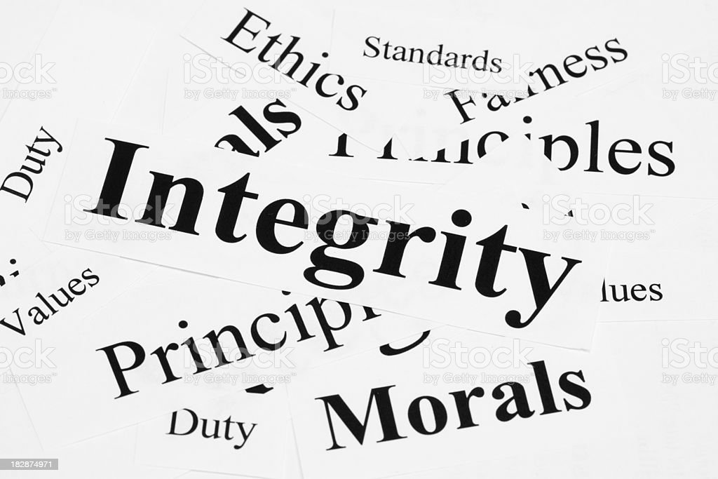 Integrity Concept. royalty-free stock photo