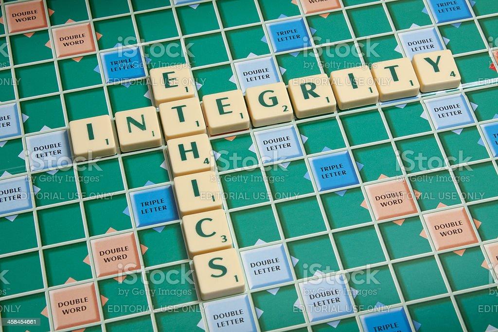 Integrity & Ethics. royalty-free stock photo