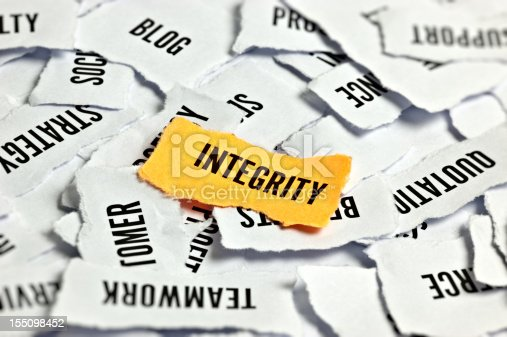 istock Integrity Word On Paper 155098452