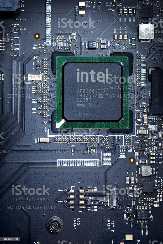 intel Chip royalty-free stock photo