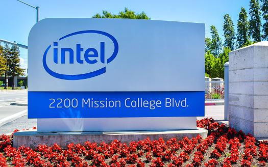 Intel Corp Sede Di Santa Clara California - Fotografie stock e altre immagini di California