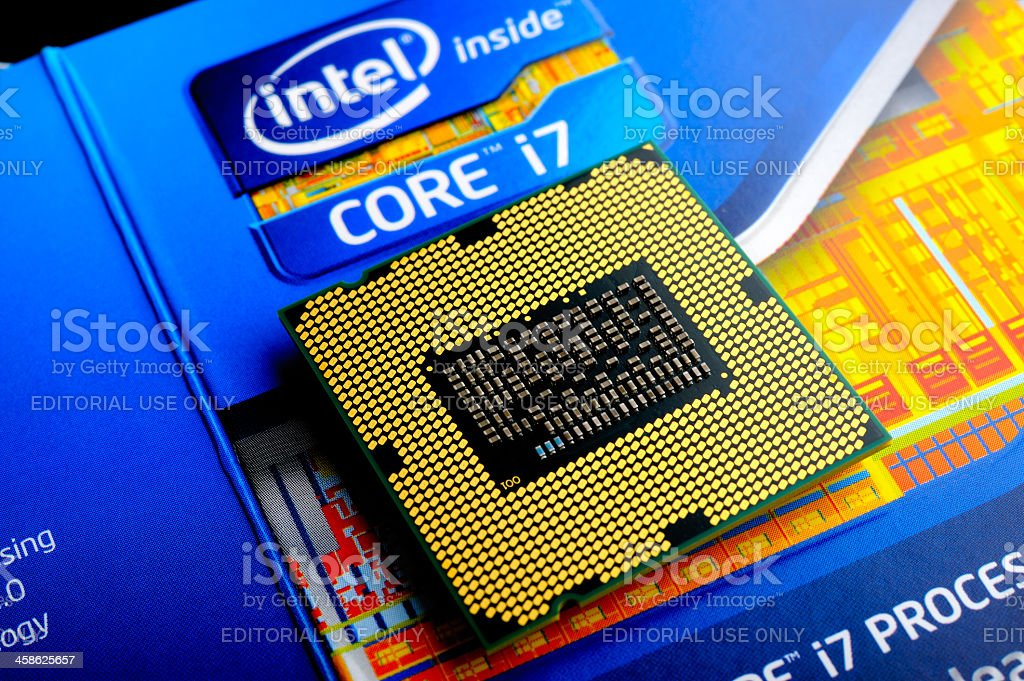 Intel Processor Core i7 stock photo