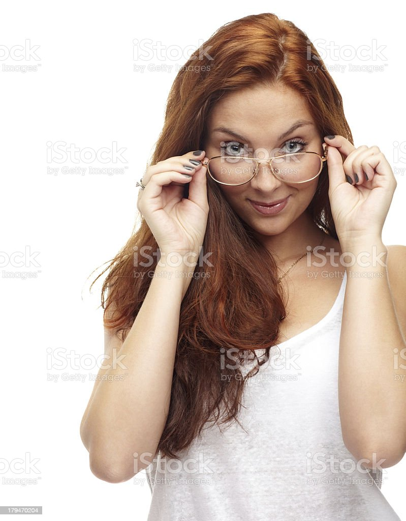 Intellectual beauty royalty-free stock photo