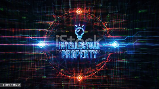 Intellectual Property Digital Background