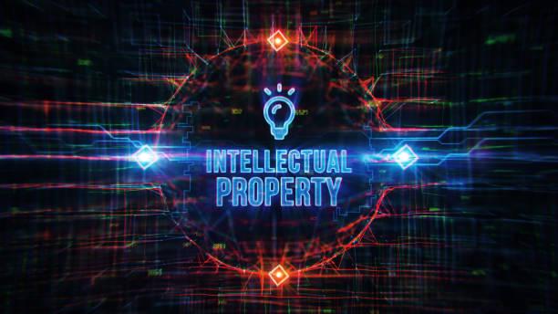 Digitaler Hintergrund für geistiges Eigentum – Foto