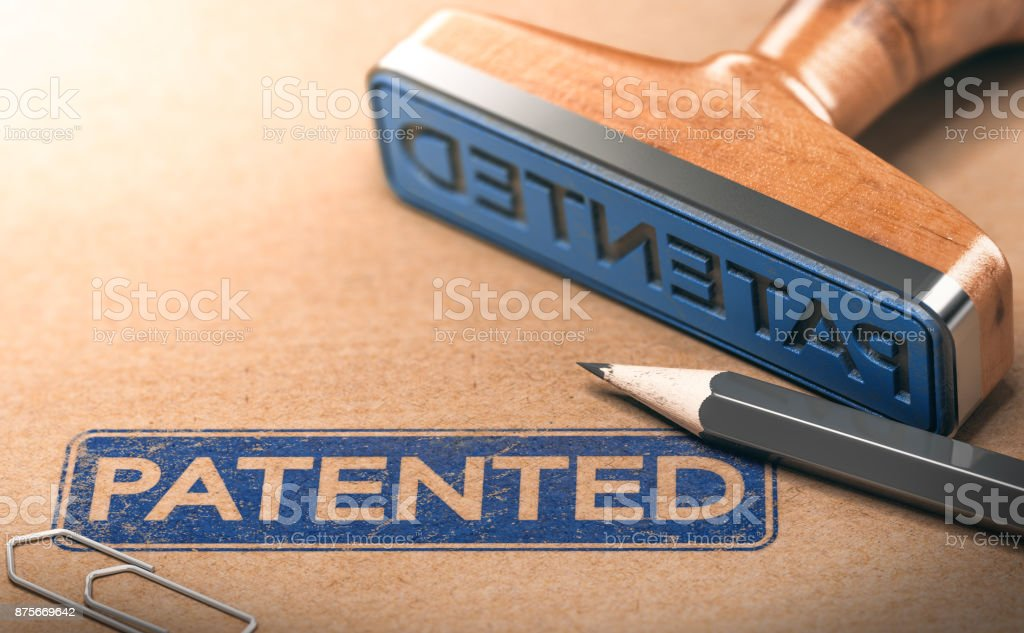 IP, Intellectual Property Patent Concept stock photo