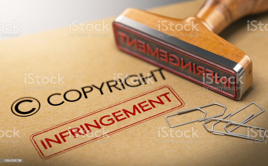 Geistiges Eigentum Rechtekonzept, Copyright-Verletzungen – Foto