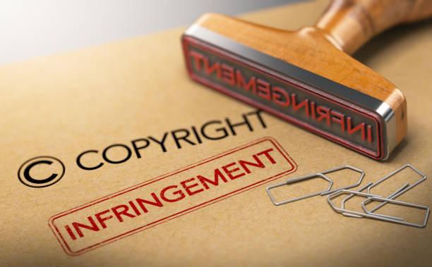 concept de droits de propriété intellectuelle, contrefaçon - marque déposée photos et images de collection