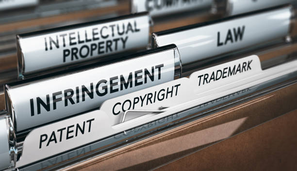 Intellectual Property Rights, Copyright, Patent or Trademark Infringement stock photo