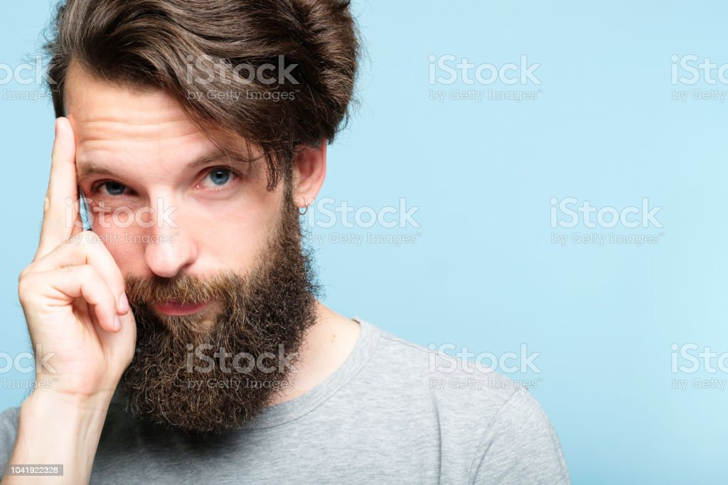 intelligence smart ideas mind brain power smug man royalty-free stock photo