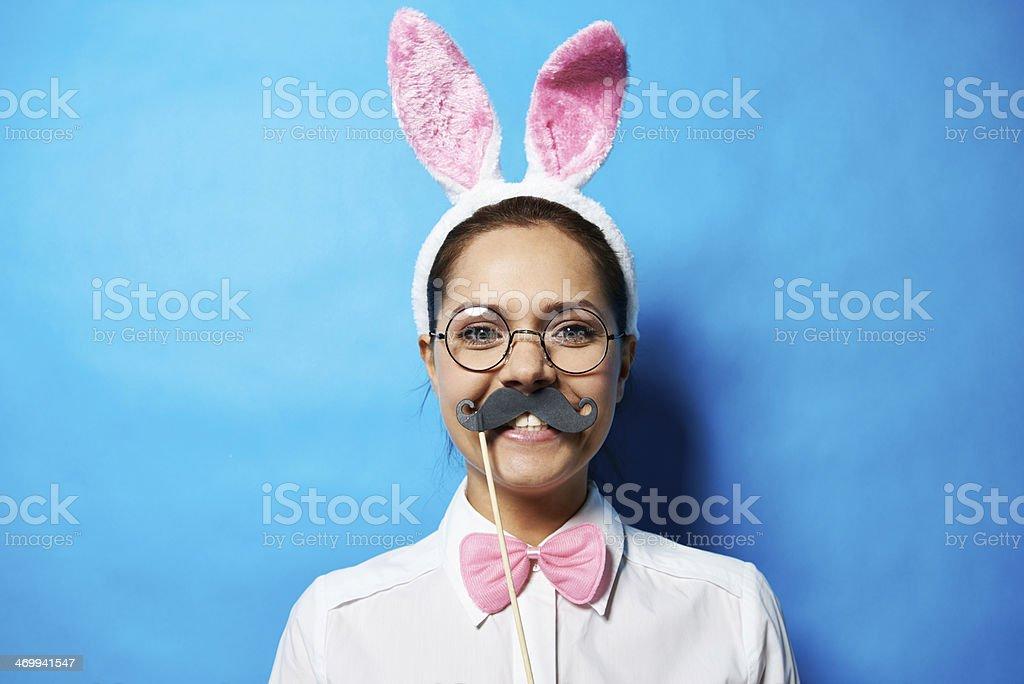 Intelligent bunny stock photo