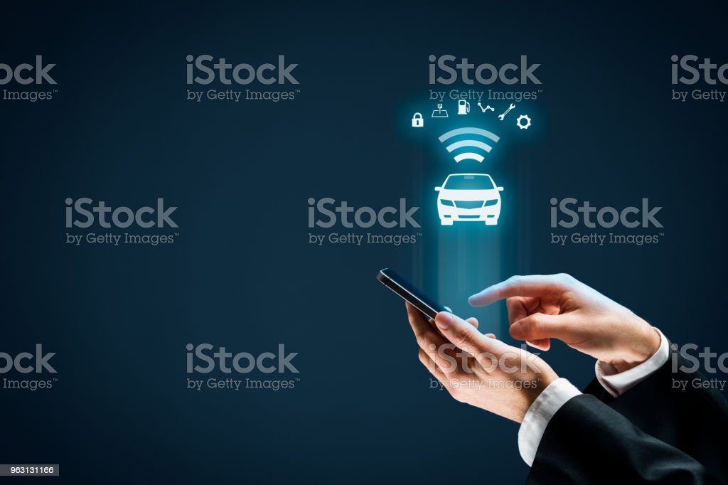 Intelligent car concept stock photo