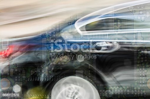 istock Intelligent car electronics 668312520