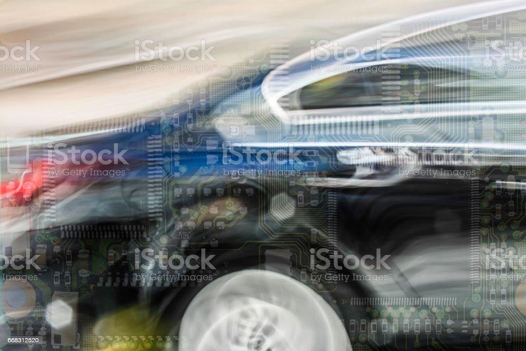 Intelligent car electronics stock photo