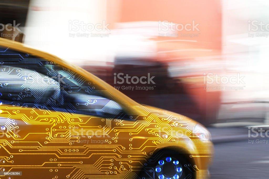 Intelligent bilelektronik bildbanksfoto