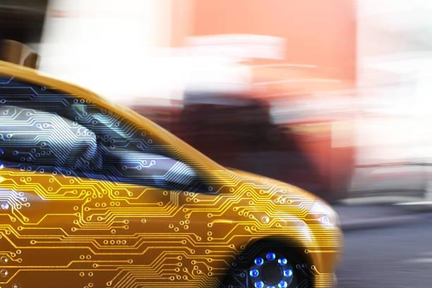 Electrónica del coche inteligente - foto de stock