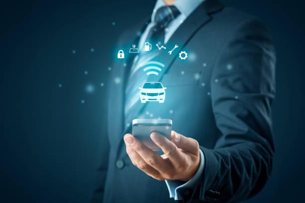 Intelligent Auto-smart-Phone-app-Konzept – Foto