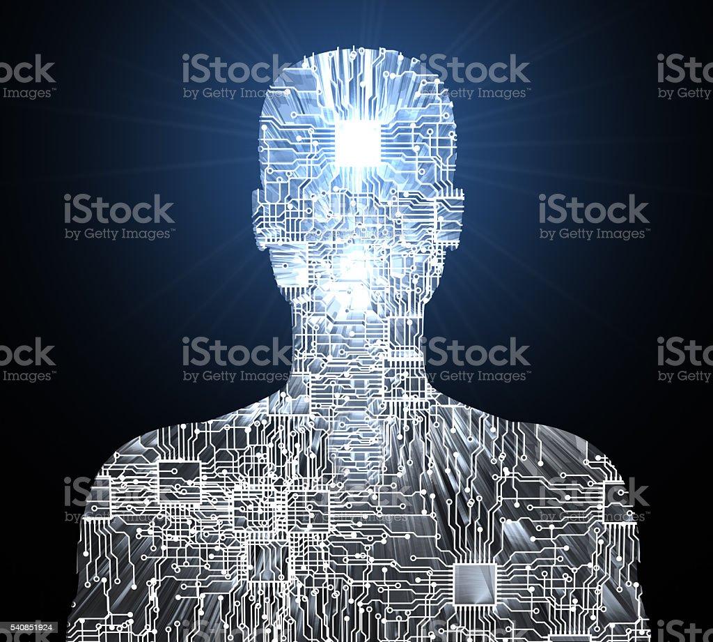 Intelligent Cyborg stock photo