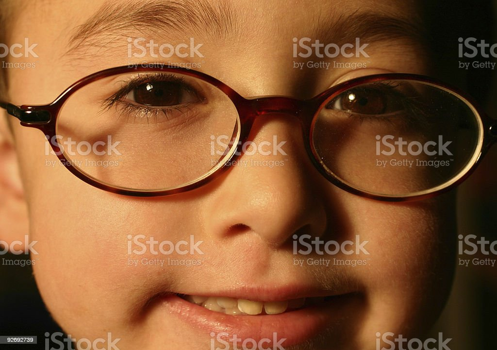 Intelligent kid stock photo