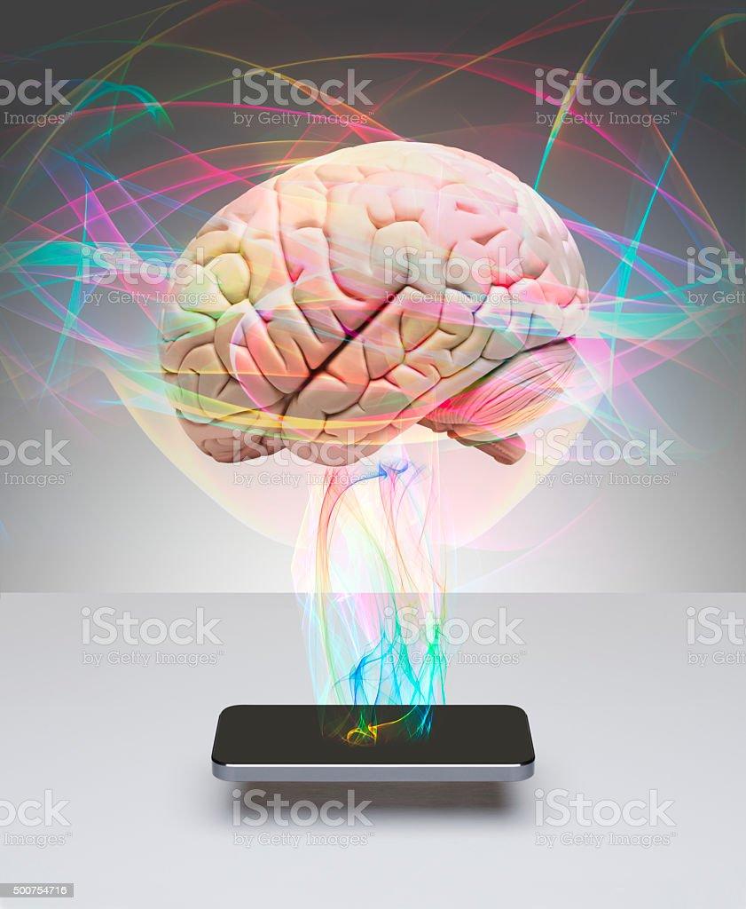 Intelligent smart phone stock photo