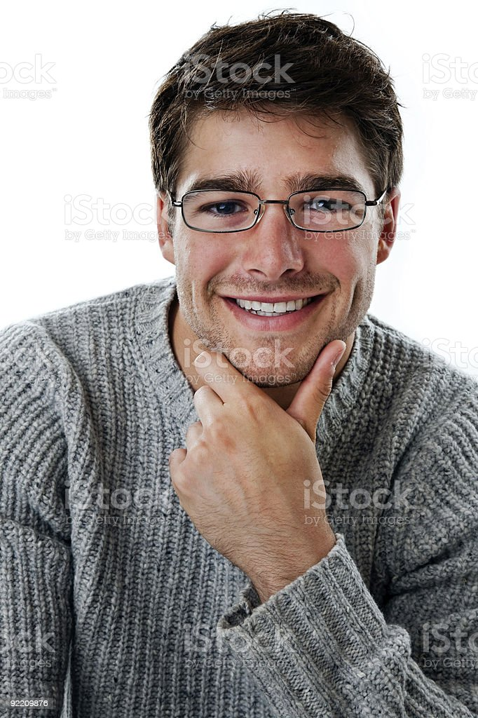 Intelligent young man royalty-free stock photo