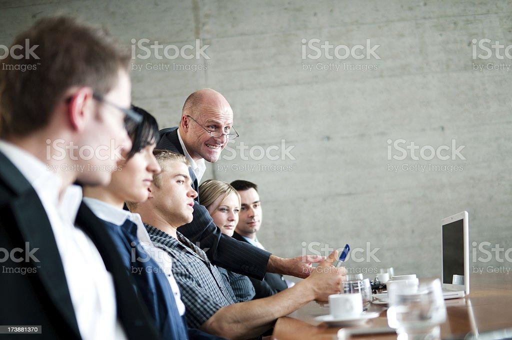 intense business meeting stock photo