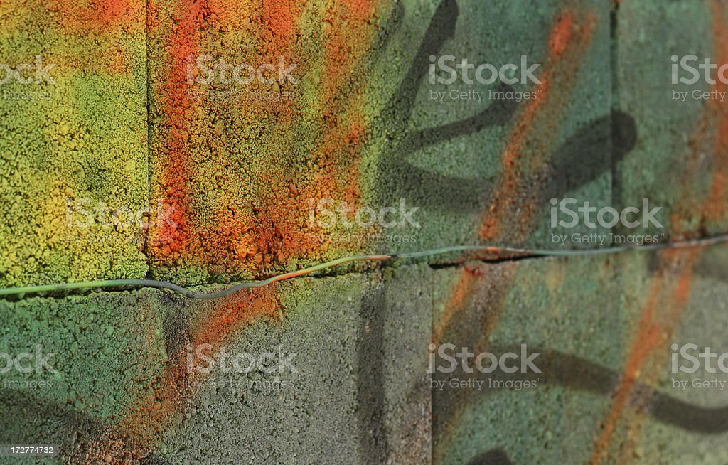 Intense Coloured Graffiti Background royalty-free stock photo