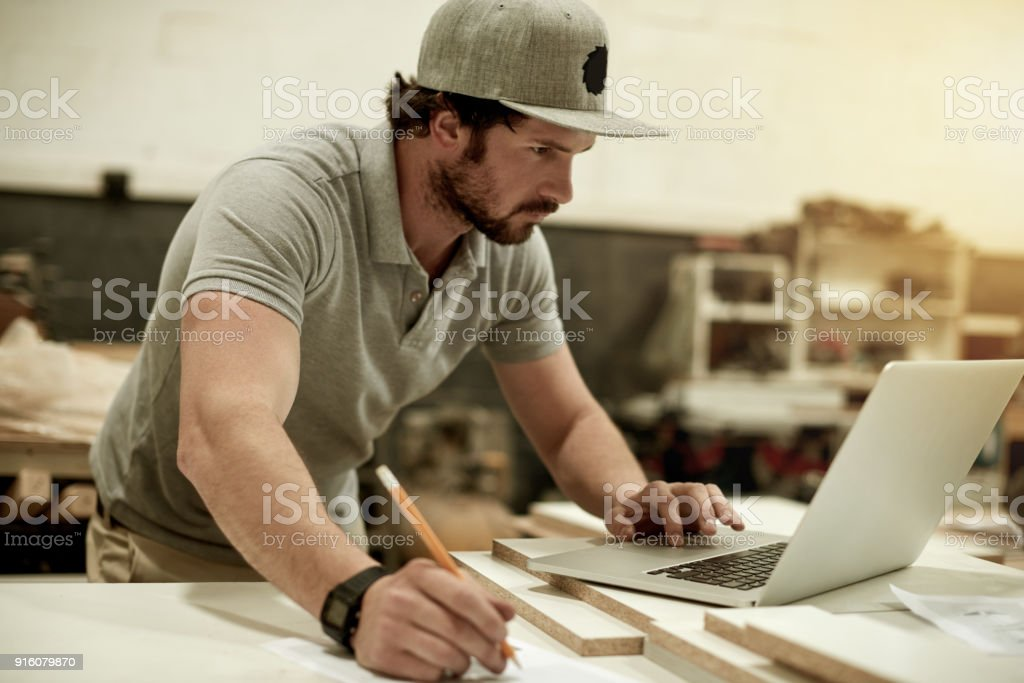 Intense concentration stock photo