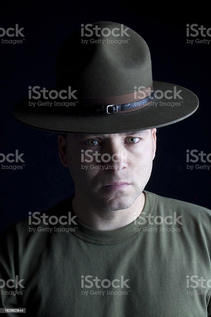 Intense Drill Instrutor royalty-free stock photo