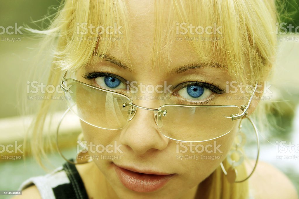 Intense Gaze royalty-free stock photo