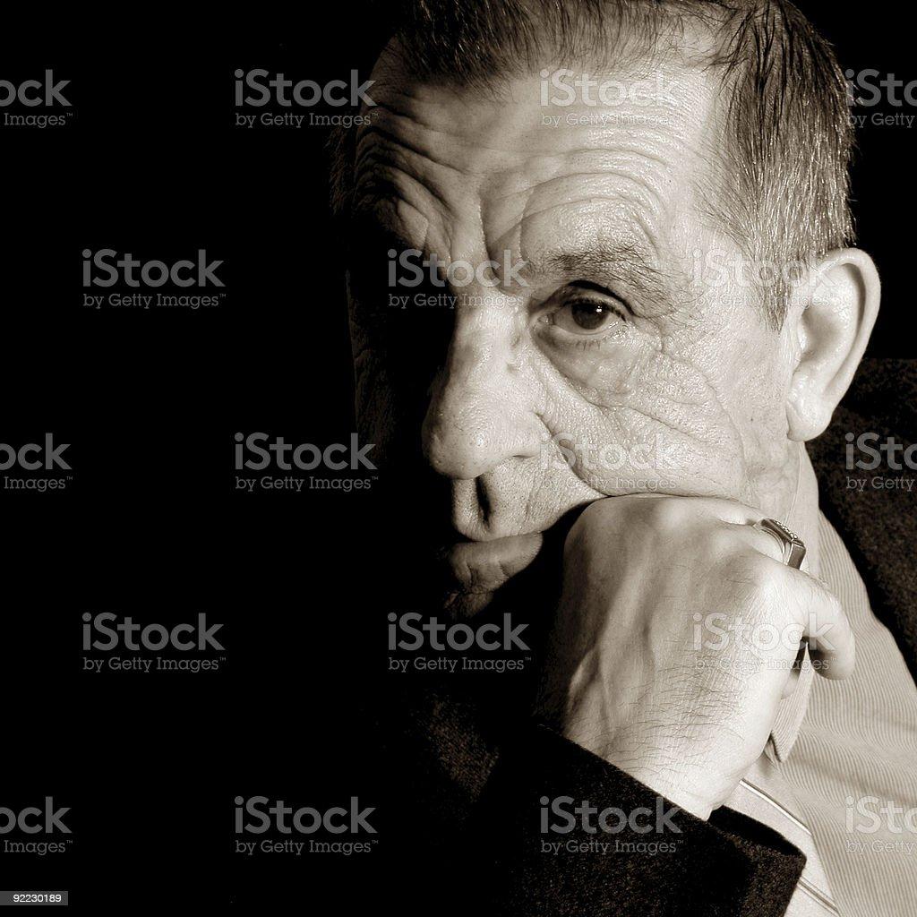 Intense Gentleman stock photo