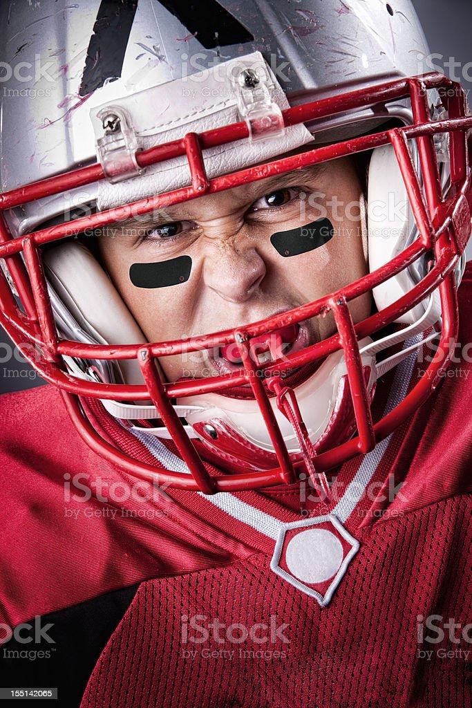 Intense Little League Football Portrait stock photo