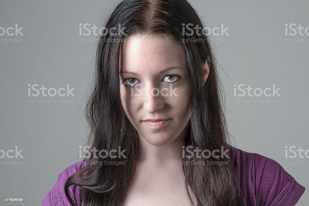 Intense look royalty-free stock photo