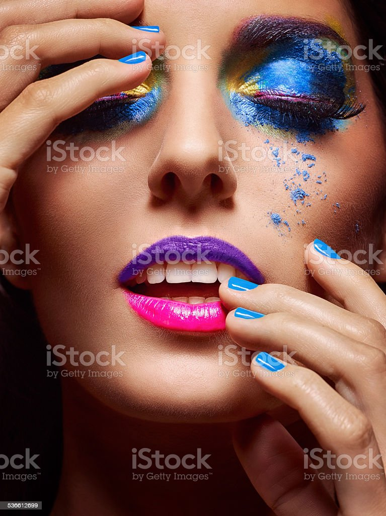 Intense Make-Up stock photo