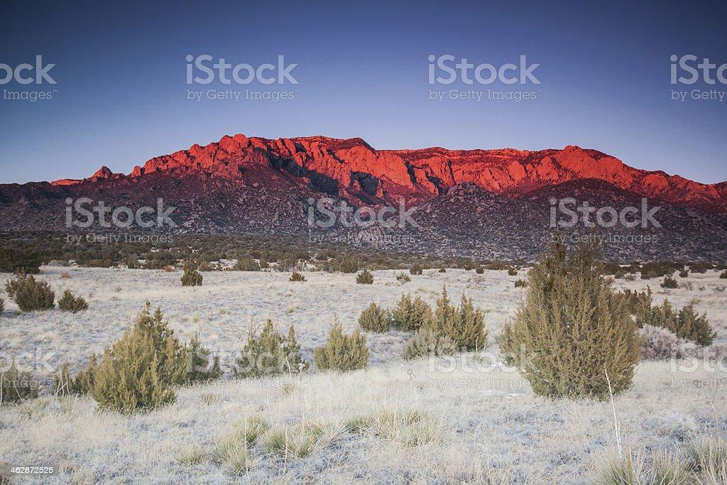 intense mountain landscape sunset stock photo