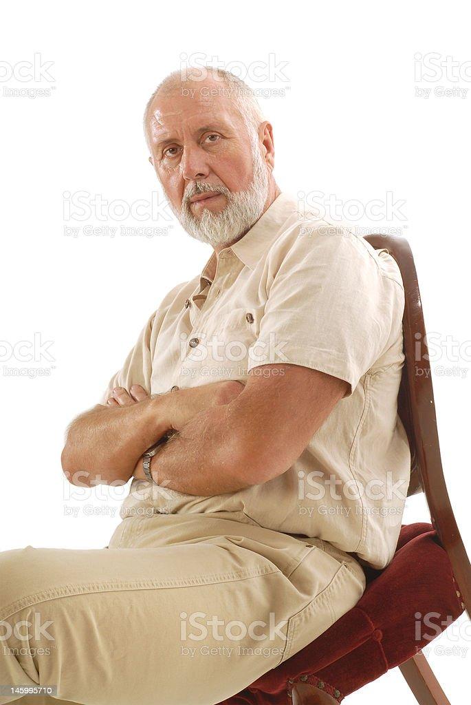 Intense older man royalty-free stock photo