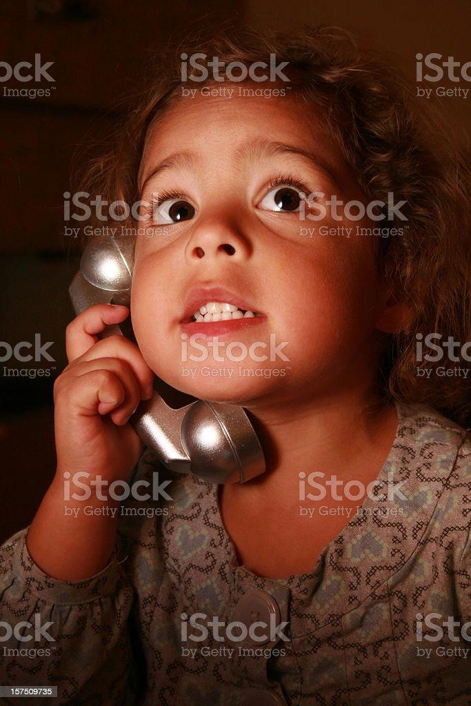 Intense Phone Call stock photo