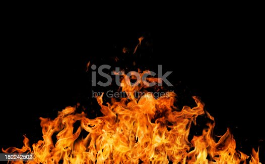 istock Intense REAL fire flames 182242502
