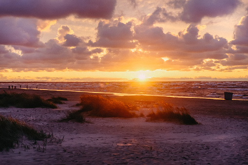 Intense sunset over the Baltic Sea
