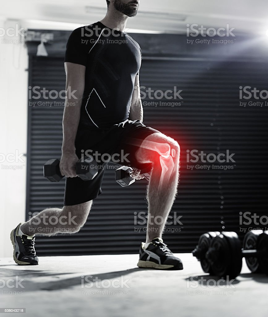 Intense training can make certain muscles vulnerable to injury stock photo