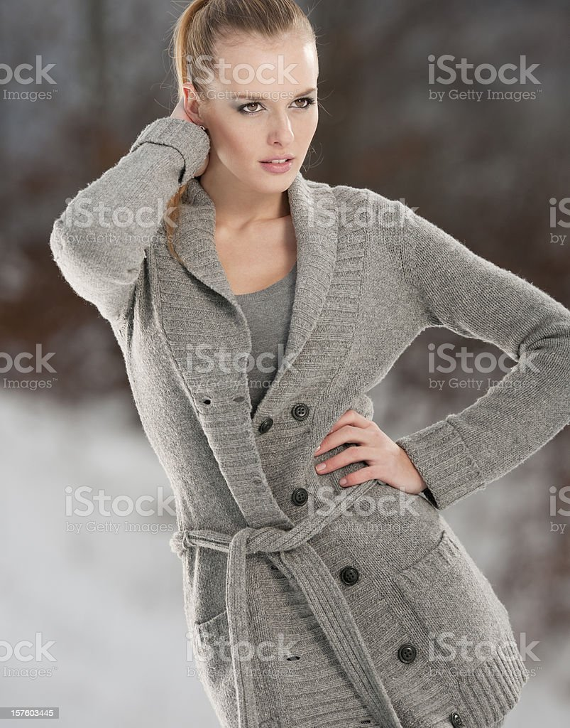 Intense Winter Portrait (XXXL) royalty-free stock photo