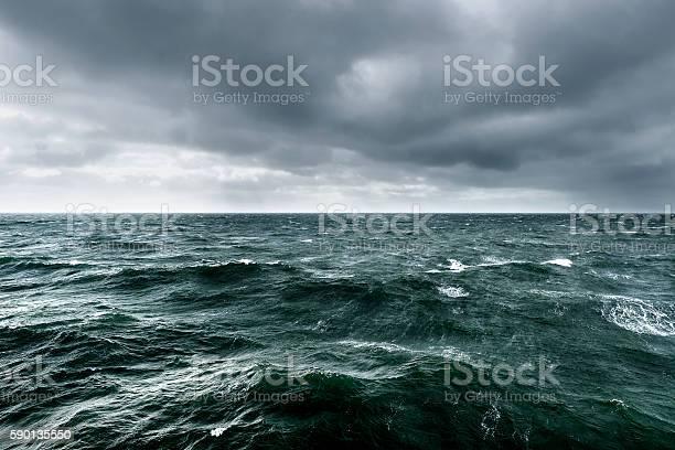 Photo of Intense winter storm brewing over ocean