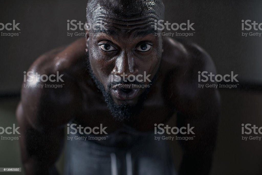 Intense Workout stock photo