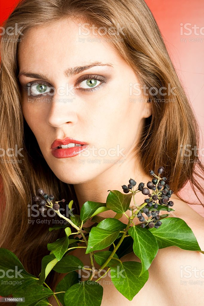Intensive autumn make-up royalty-free stock photo