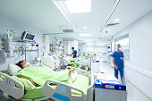 Intensive care in the hospital, COVID-19